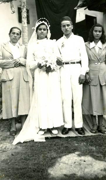 Mis padres, el día de su matrimonio.