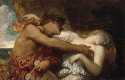 """""""Orfeo y Eurídice"""" del pintor inglés George Frederick Watts"""