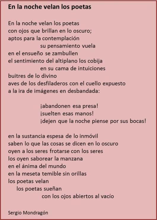 Poema de Sergio Mondragón