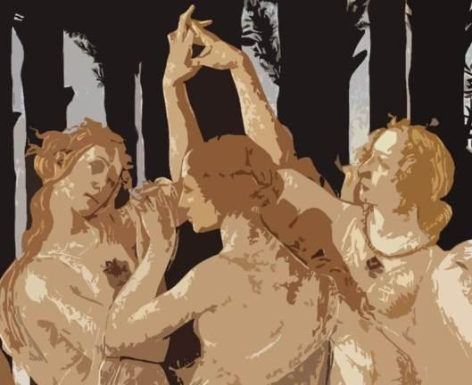 """""""Las Gracias"""" de Sandro Botticelli"""