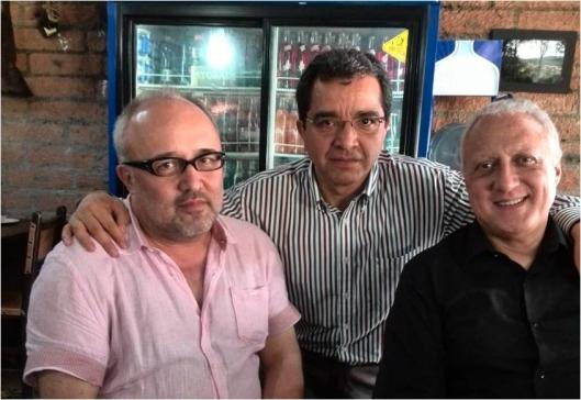 Con Daniel Cassany y Giovanni Parodi en Envigado (Antioquia)