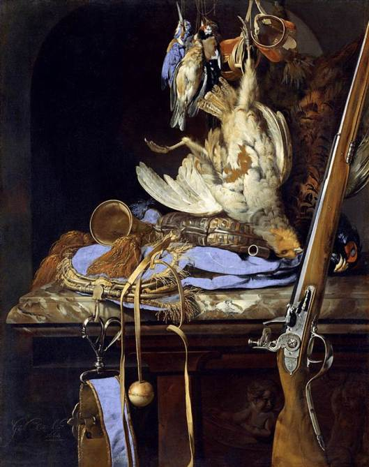 Bodegón con accesorios de caza del pintor holandés Willem van Aelst