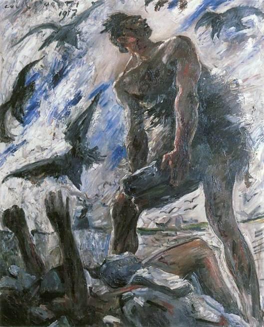 """Caín"", del pintor alemán Lovis Corinth."