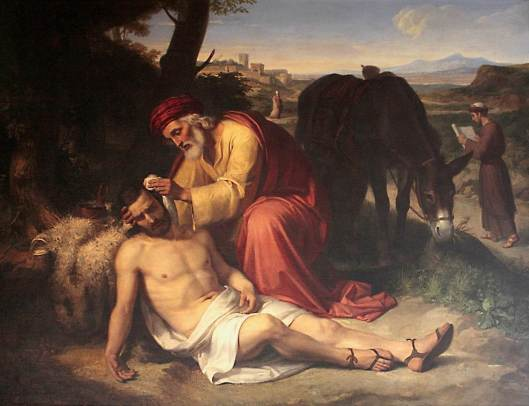"""El buen samaritano"" del pintor catalán Pelegrí Clavé i Roqué"