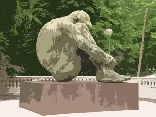 Escultura de Víctor Ochoa.