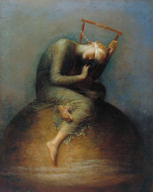 """La esperanza"" del pintor inglés George Frederick Watts."