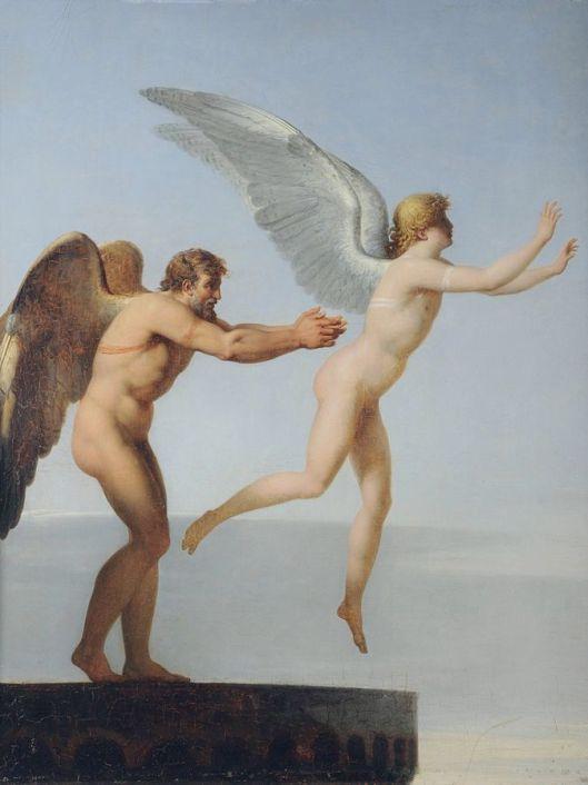 """""""Ícaro y Dédalo"""" del pintor Charles Paul Landon."""
