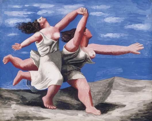 Dos mujeres corriendo en la playa, de Pablo Picasso.