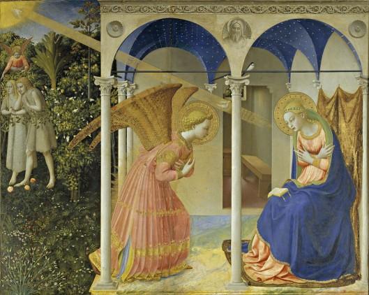 """""""La anunciación"""" de Fra Angélico."""