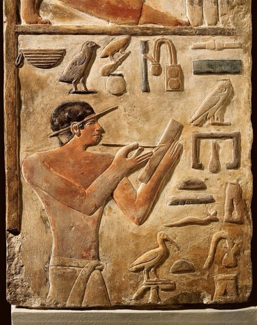 El escriba y sus instrumentos