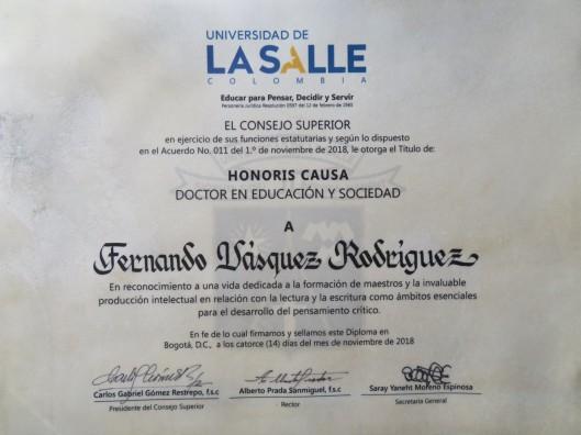 Doctorado Honoris causa