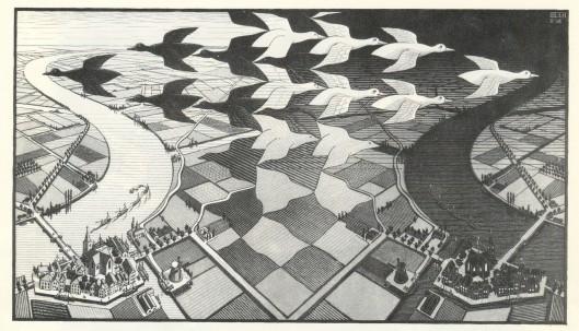 Ilustración de Escher