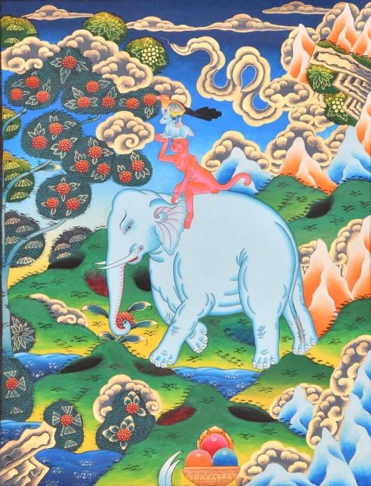 Pintura tibetana Thangka