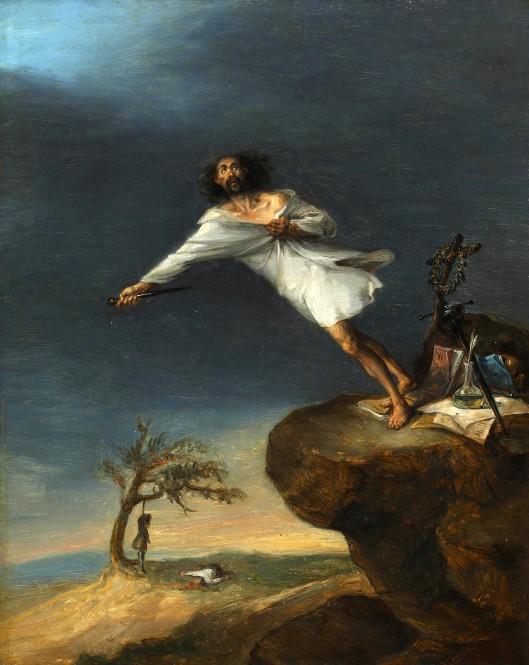 LEONARDO_ALENZA_-_Sátira_del_suicidio_romántico_(Museo_Romántico,_Madrid,_c._1839)