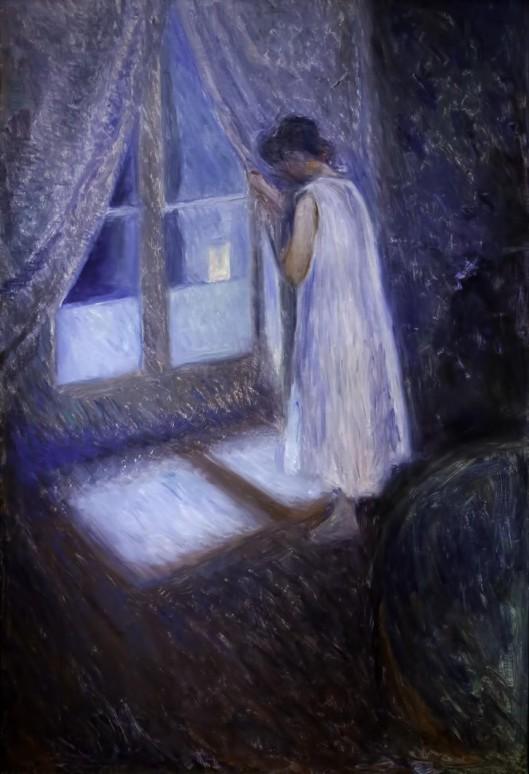 Niña mirando por la ventana Edward Münch